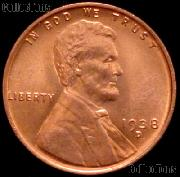 1938-D Lincoln Wheat Cent GEM BU RED Penny for Album