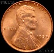 1939 Lincoln Wheat Cent GEM BU RED Penny for Album