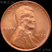 1939-D Lincoln Wheat Cent GEM BU RED Penny for Album