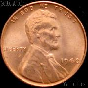 1940 Lincoln Wheat Cent GEM BU RED Penny for Album
