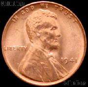 1941 Lincoln Wheat Cent GEM BU RED Penny for Album