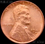 1941-D Lincoln Wheat Cent GEM BU RED Penny for Album