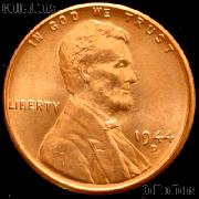 1944-D Lincoln Wheat Cent GEM BU RED Penny for Album