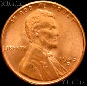 1945-D Lincoln Wheat Cent GEM BU RED Penny for Album