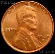 1947-D Lincoln Wheat Cent GEM BU RED Penny for Album