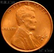 1948-D Lincoln Wheat Cent GEM BU RED Penny for Album