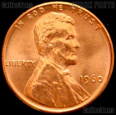 1960 Small Date Lincoln Memorial Cent  GEM BU RED