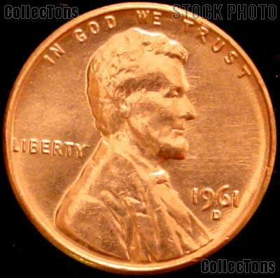 1961-D Lincoln Memorial Cent GEM BU RED Penny