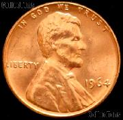 1964 Lincoln Memorial Cent GEM BU RED Penny
