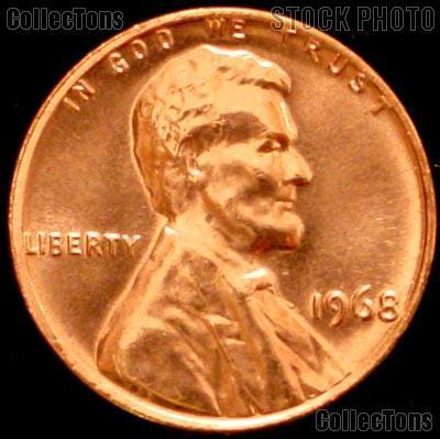 1968 Lincoln Memorial Cent GEM BU RED Penny