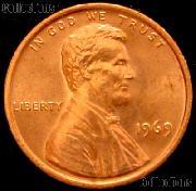 1969 Lincoln Memorial Cent GEM BU RED Penny
