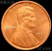 1969-S Lincoln Memorial Cent GEM BU RED Penny