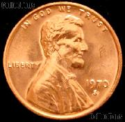 1970-S Large Date Lincoln Memorial Cent GEM BU RED
