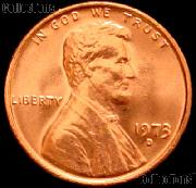 1973-D Lincoln Memorial Cent GEM BU RED Penny
