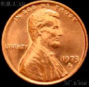 1973-S Lincoln Memorial Cent GEM BU RED Penny