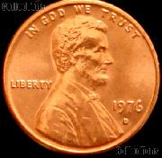 1976-D Lincoln Memorial Cent GEM BU RED Penny