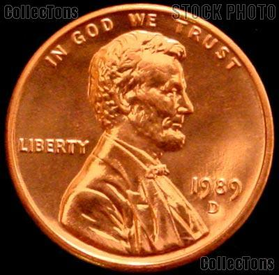 1989-D Lincoln Memorial Cent Uncirculated BU Red Penny