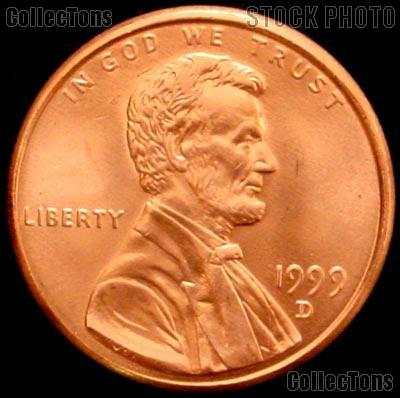 1999-D Lincoln Memorial Cent Uncirculated BU Red Penny