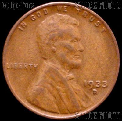 1933-D Wheat Penny Lincoln Wheat Cent Circulated G-4 or Better