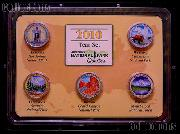 Colored Quarters 2010 National Park Colorized Quarter Year Set