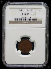 1909-S VDB Lincoln Wheat Cent KEY DATE in NGC F 15 BN (Brown)