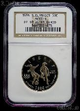 1996-S Atlanta Olympic Games Soccer Proof Half Dollar in NGC PF 69 ULTRA CAMEO
