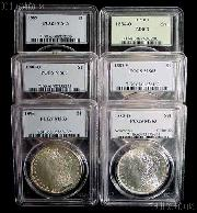 Morgan Silver Dollar 1878-1904 in PCGS MS 63 Mixed Dates and Mint Marks