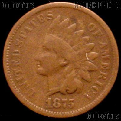 1875 Indian Head Cent Variety 3 Bronze G-4 or Better Indian Penny