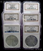 American Silver Eagle Dollar in NGC MS 69 Mixed Dates