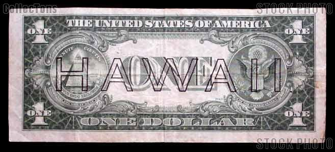 One Dollar Bill Hawaii Note Brown Seal US Currency