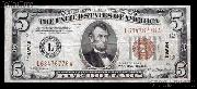 Five Dollar Bill Hawaii Note Brown Seal US Currency Good or Better