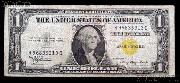 One Dollar Bill North Africa Note Yellow Seal US Currency Good or Better