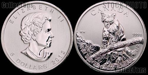 2012 Canadian Silver Cougar Coin - Wild Life Series