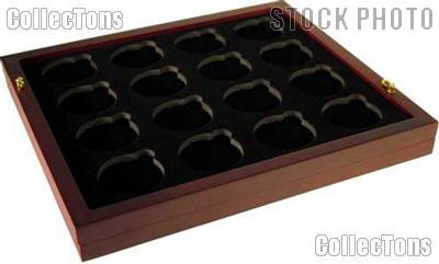 """Coin Tray for 16 Air-Tite """"H"""" Capsules fits in Mahogany Wood Coin Display"""