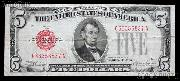 Five Dollar Bill Red Seal Series 1928 US Currency Good or Better