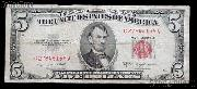 Five Dollar Bill Red Seal Series 1953 - Good or Better