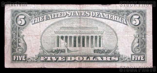 Five Dollar Bill Red Seal Series 1953 US Currency Good or Better