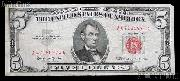 Five Dollar Bill Red Seal Series 1963 US Currency