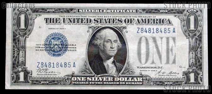 One Dollar Bill Silver Certificate \