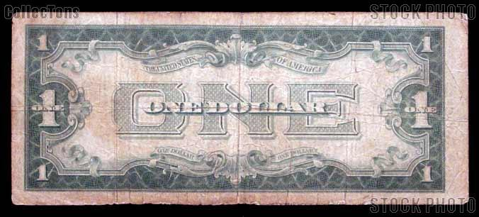 "One Dollar Bill Silver Certificate ""Funny Back"" Series 1928 US Currency"