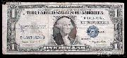 One Dollar Bill Silver Certificate NO MOTTO Series 1935 US Currency