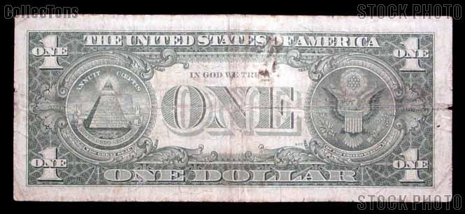 One Dollar Bill Silver Certificate Series 1957 US Currency - $1.79
