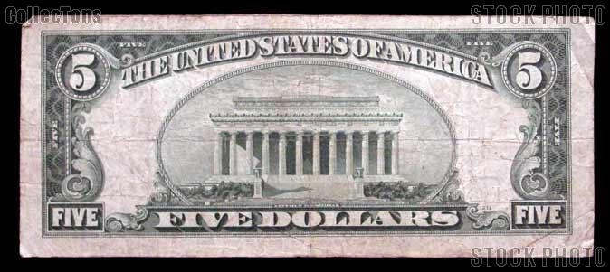 Five Dollar Bill Silver Certificate Series 1934 US Currency