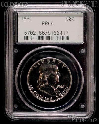 1961 Franklin Proof Silver Half Dollar in PCGS PR 66