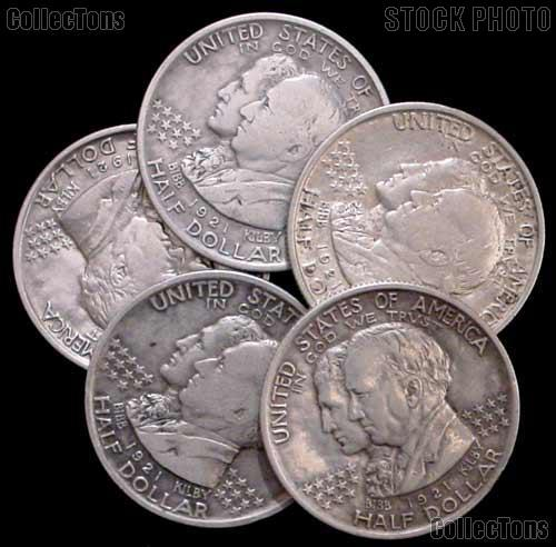 1921 Alabama Centennial Silver Commemorative Half Dollar in Circulated Condition