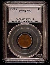 1914-D Lincoln Wheat Cent KEY DATE in PCGS G 4