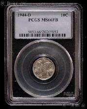 1944-D Mercury Silver Dime in PCGS MS 66 FB (Full Bands)