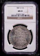 1887-O Morgan Silver Dollar in NGC MS 63