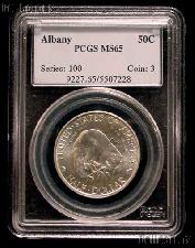 1936 Albany New York Charter 250th Anniversary Silver Commemorative Half Dollar in PCGS MS 65