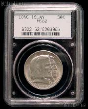 1936 Long Island Tercentenary Silver Commemorative Half Dollar in PCGS MS 62